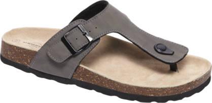 Memphis One Grijze sandaal leren voetbed
