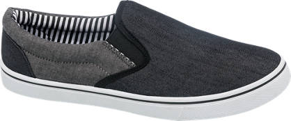 Blue Fin Colour Block Slip On Canvas