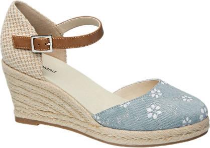 Graceland sandały damskie na koturnie