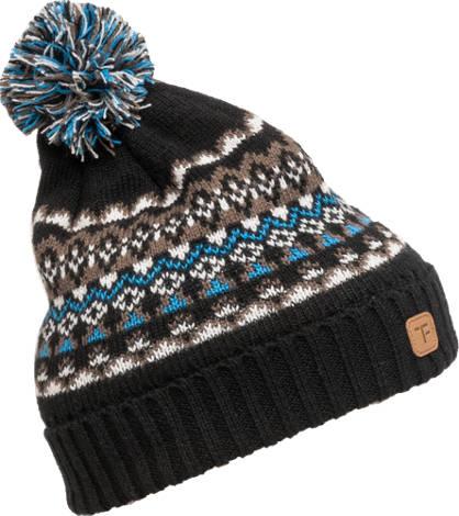 Pattern Pom Pom Hat