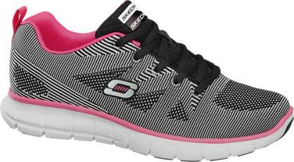 Skechers Zwart/witte lightweight sneaker memory foam