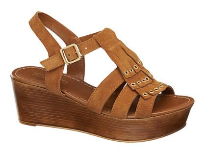 5th Avenue sandały damskie na koturnie