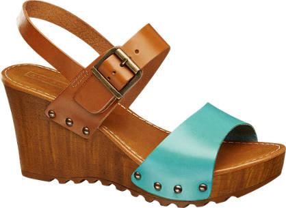 5th Avenue sandały na koturnie