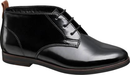 Graceland Snørestøvle - Lak-Look
