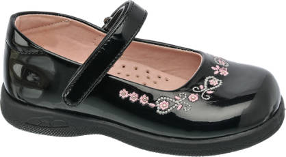 Cupcake Couture Toddler Embroidered Bar Shoe