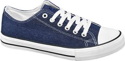 Vty Blauwe sneaker denim