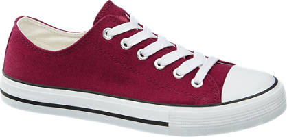 Vty Bordeaux rode sneaker canvas