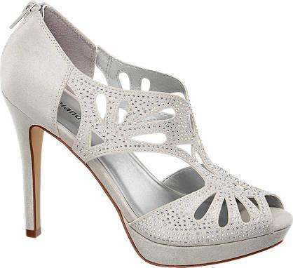 Graceland szpilki damskie peep toe