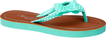 Cupcake Couture Zöld pöttyös flip flop papucs