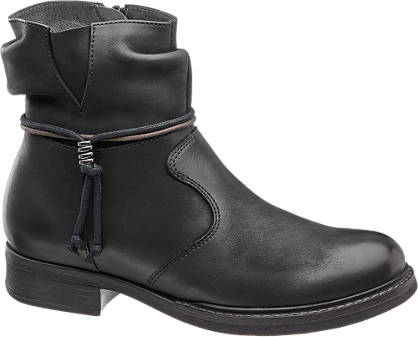 5th Avenue Ankle Tie Leather Boot