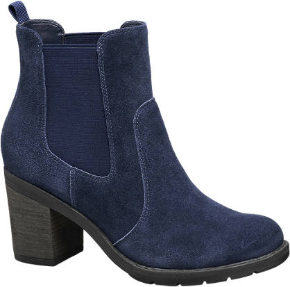 5th Avenue Blauwe suède chelsea boot