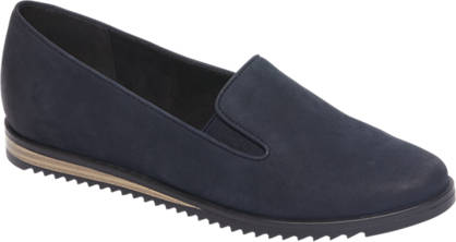 5th Avenue Donkerblauwe leren slip-on