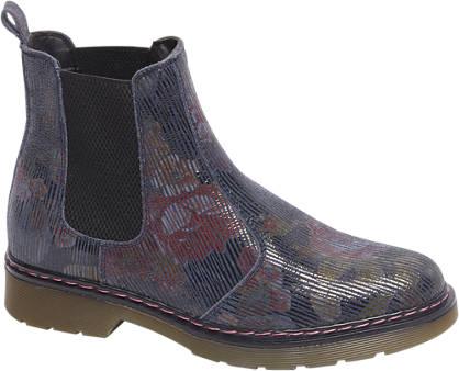 5th Avenue Premium - Blauwe leren chelsea boot