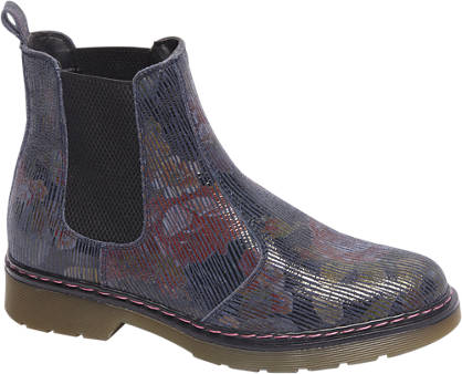 5th Avenue Premium - Blauwe leren chelsea boot