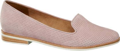 5th Avenue Roze leren loafer perforatie