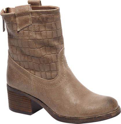 5th Avenue Taupe leren boot crocoprint