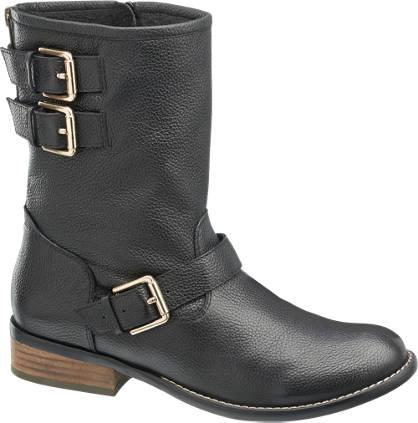 5th Avenue Zwarte boot sierstreps