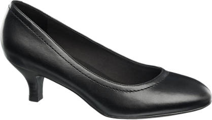 5th Avenue Zwarte leren comfort pump