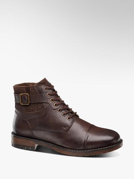 AM SHOE brązowe buty męskie Am Shoe z ociepleniem