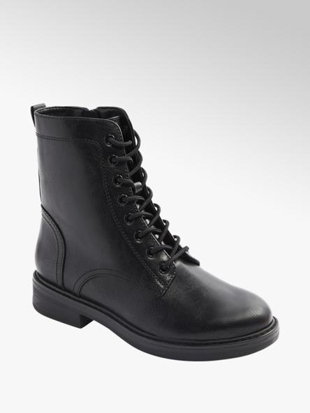 Graceland czarne sznurowane botki damskie Graceland typu combat boots