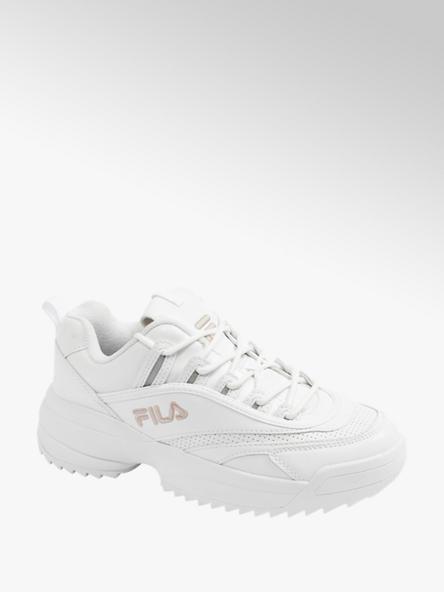 Fila markowe sneakersy damskie Fila z różowym logo i masywną podeszwą
