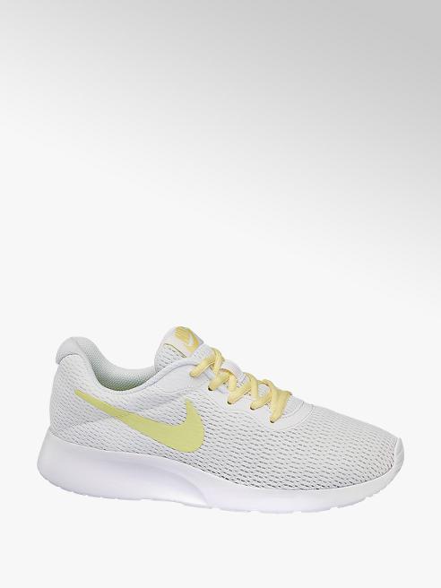 NIKE białe sneakersy damskie Nike Tanjun z żółtym logo