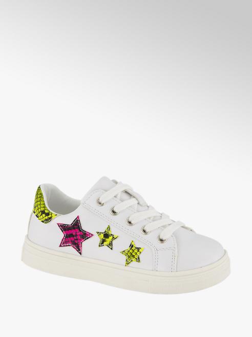 Graceland białe sneakersy dziewczęce Graceland ozdobione gwiazdkami