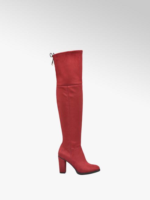 Graceland czerwone kozaki damskie Graceland za kolano