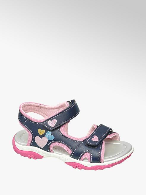Cupcake Couture granatowo-różowe sandały dziewczęce Cupcake Couture zapinane na rzepy