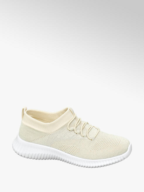 Graceland jasnobeżowe sneakersy damskie Graceland