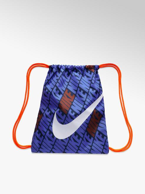 NIKE niebieski worek Nike z pomarańczowymi sznurkami