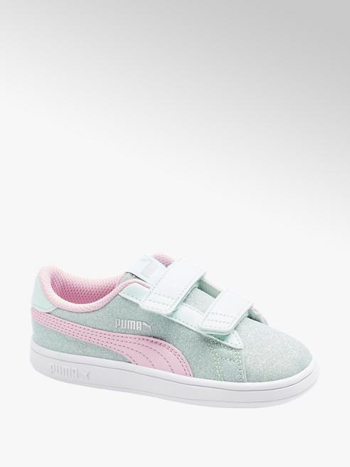Puma niebiesko-różowe sneakersy dziewczęce Puma Smash Glitz Glam
