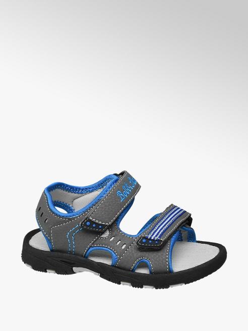 Bobbi-Shoes szare sandały chłopięce Bobbi-Shoes zapianane na rzepy