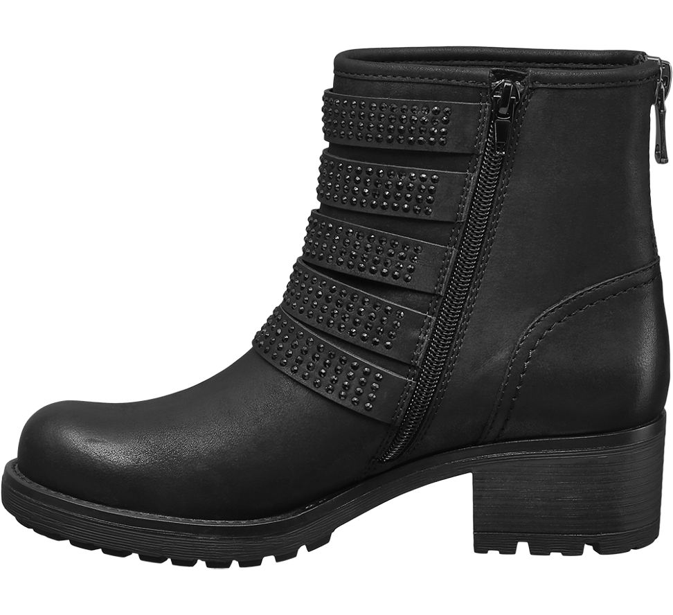 deichmann catwalk damen boots schwarz neu ebay. Black Bedroom Furniture Sets. Home Design Ideas