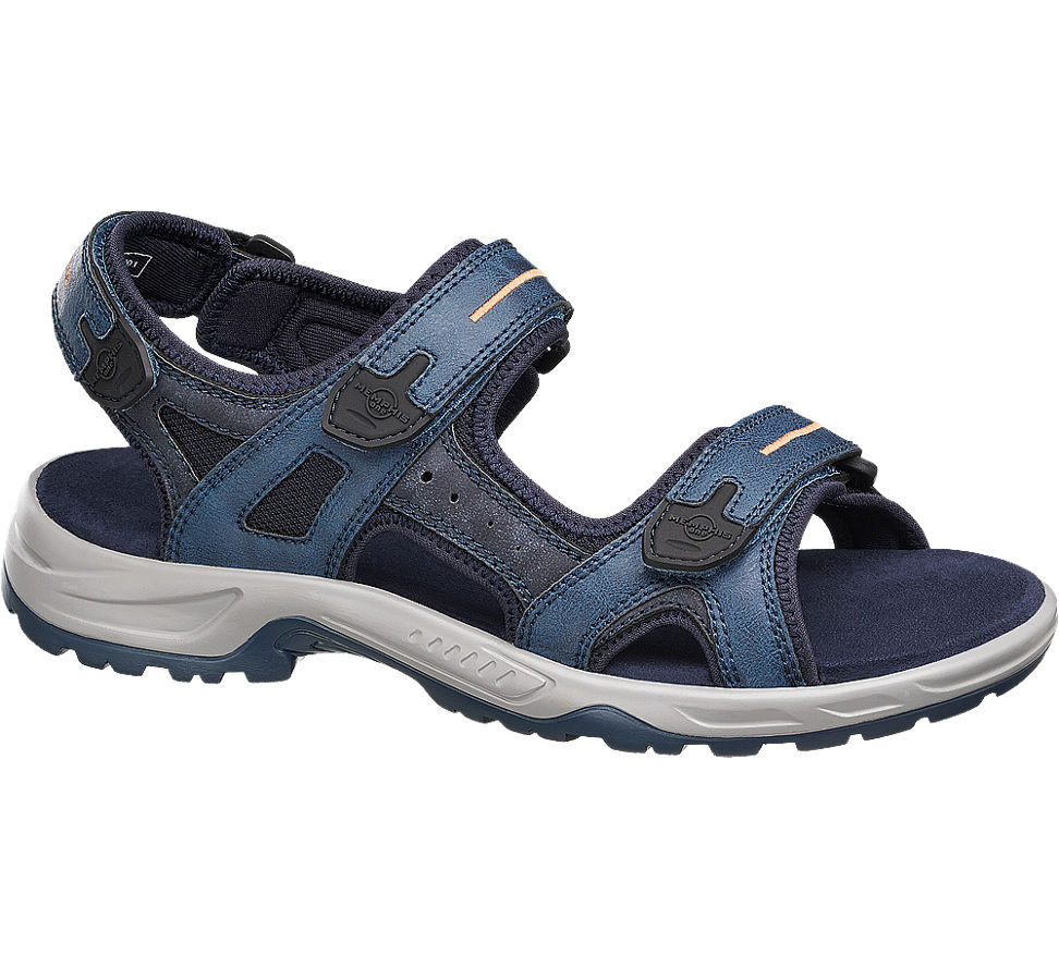 deichmann memphis one herren sandale blau neu ebay. Black Bedroom Furniture Sets. Home Design Ideas
