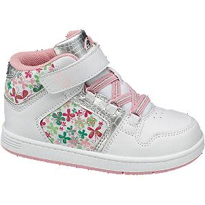 Midcut sneaker (bloemenprint)