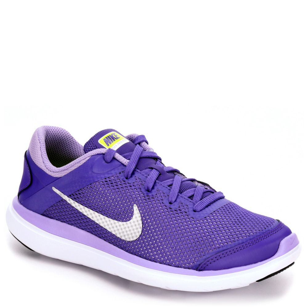 nike flex 2016 run kids 39 running shoe purple rack room. Black Bedroom Furniture Sets. Home Design Ideas