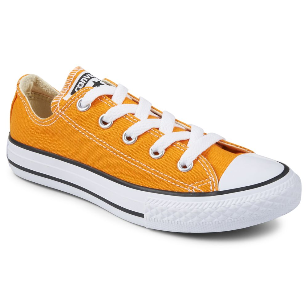 Converse chuck taylor all star ox kids 39 shoe orange for Rack room kids shoes