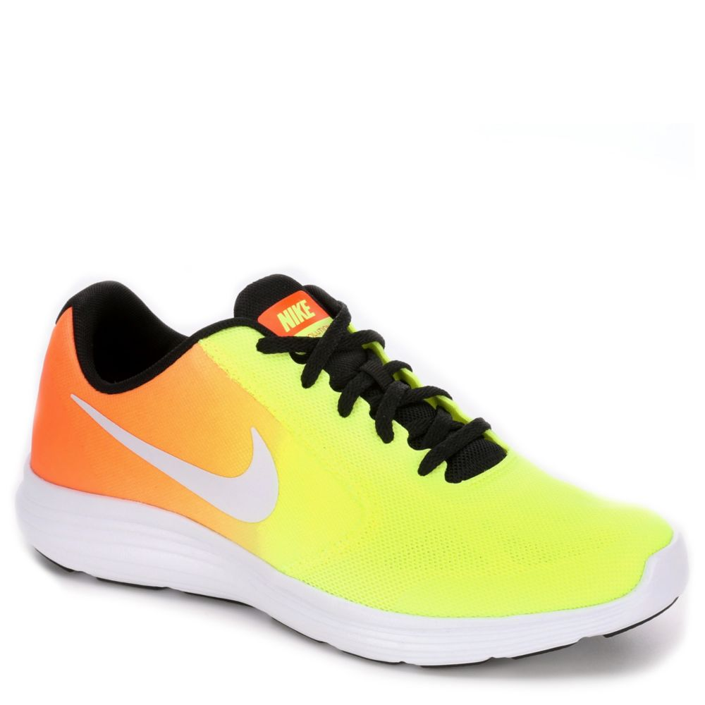 Nike revolution 3 kids 39 shoe yellow rack room shoes for Rack room kids shoes