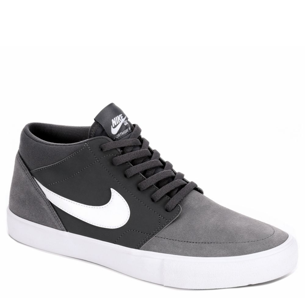 nike protmore ii men 39 s suede sneaker dark grey rack. Black Bedroom Furniture Sets. Home Design Ideas