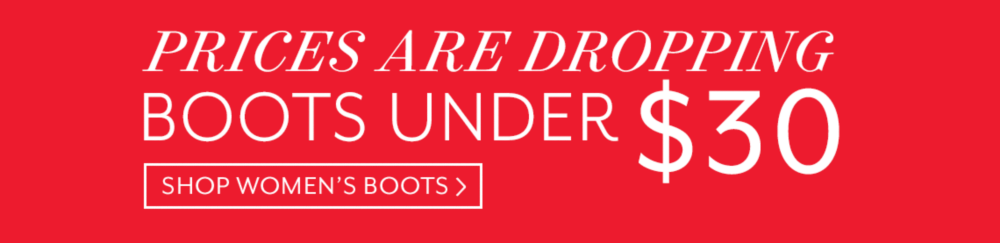 Boots Under $30 Shop Women's Boots