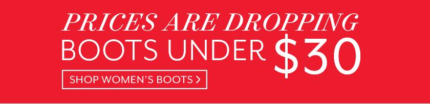 Boots Under $30 Shop Now