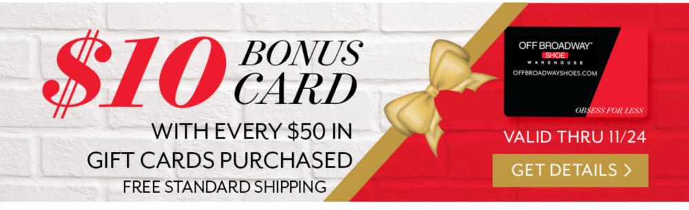$10 Bonus Card Get Details