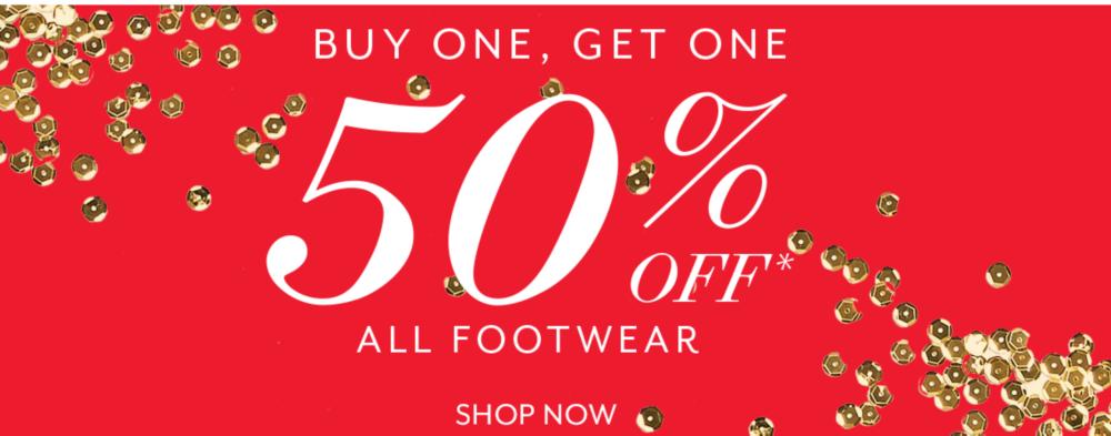 BOGO 50% OFF All Footwear
