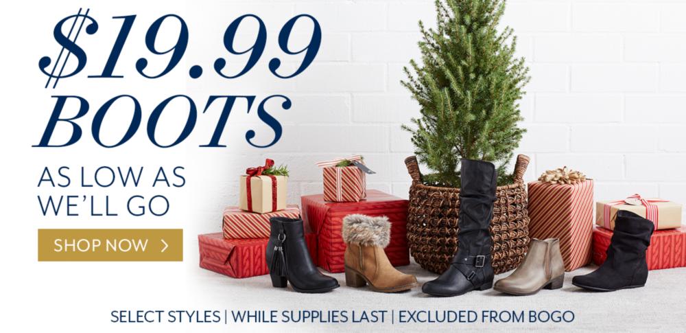 Shop $19.99 Boots