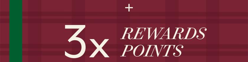 3X Rewards Points