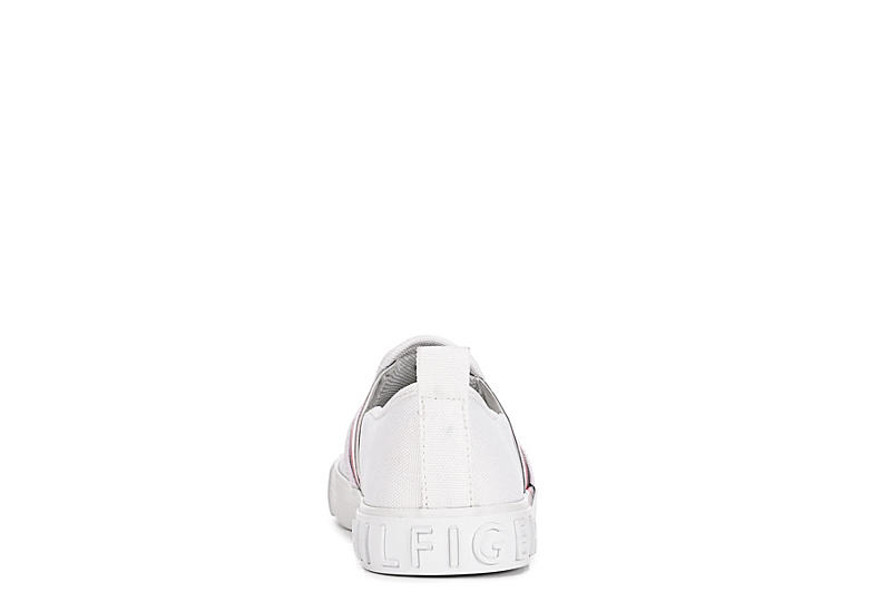 TOMMY HILFIGER Womens Junna Slip On Sneaker - WHITE