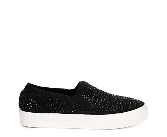 Womens Studded Affair Slip On Sneaker