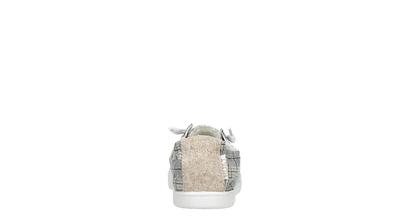 ROXY Womens Bayshore Fur Slip On Sneaker - GREY