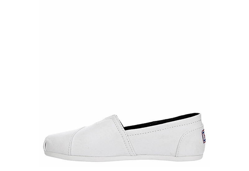 SKECHERS BOBS Womens Peace And Love Flat - WHITE
